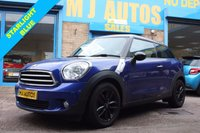 USED 2014 64 MINI MINI PACEMAN 1.6 PACEMAN COOPER 3dr 122 BHP STARLIGHT BLUE with BLACK ROOF & MIRROR CAPS