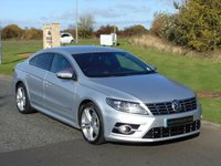 USED 2015 15 VOLKSWAGEN CC 2.0 R LINE TDI BLUEMOTION TECHNOLOGY 4d 175 BHP SAT NAV, RED LEATHER, REAR CAM