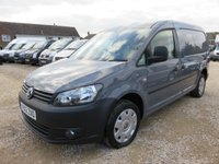2013 VOLKSWAGEN CADDY MAXI 2.0 C20 TDI BLUEMOTION 140 BHP TAILGATE AIR CON CRUISE £9995.00