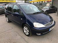 2005 FORD GALAXY 1.9 GHIA TDDI 5d 130 BHP IN BLUE WITH 77000 MILES(TRADE CLEARANCE) £1850.00