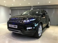 "USED 2012 62 LAND ROVER RANGE ROVER EVOQUE 2.2 TD4 PURE TECH 5d 150 BHP TECH PACK + FULL GLASS ROOF + SATELLITE NAVIGATION + 19"" ALLOY WHEELS"
