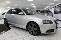 USED 2008 08 AUDI A3 2.0 TDI S LINE 170 BHP FULL BLACK LEATHER FSH+CAMBELT