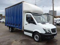 2015 MERCEDES-BENZ SPRINTER 313 CDI LWB 14FT CURTAIN SIDER, 130 BHP [EURO 5] £SOLD