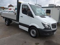 2013 MERCEDES-BENZ SPRINTER 316 CDI MWB DROPSIDE, 160 BHP [EURO 5], 1 COMPANY OWNER £SOLD