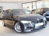 USED 2015 65 BMW 3 SERIES  335D XDRIVE M SPORT TOURING 5d AUTO 308 BHP M PERFROMANCE STYLING+RED LTHR