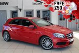 USED 2014 14 MERCEDES-BENZ A CLASS 2.1 A200 CDI AMG SPORT 5d 136 BHP - full service history  FINISHED IN STUNNING JUPITER RED WITH HALF LEATHER SEATS + FULL SERVICE HISTORY + SATELLITE NAVIGATION + BLUETOOTH + CRUISE CONTROL + 18 INCH ALLOYS