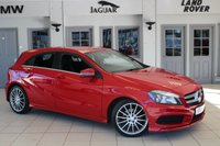 USED 2014 14 MERCEDES-BENZ A CLASS 2.1 A200 CDI AMG SPORT 5d 136 BHP - full service history  JUPITER RED WITH HALF LEATHER/CLOTH SEATS + F S H + SAT NAV + BLUETOOTH + CRUISE CONTROL + 18ALLOYS +