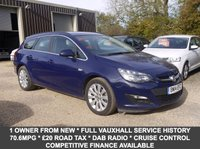 USED 2014 14 VAUXHALL ASTRA 1.7 CDTI Ecoflex S/S Tech Line 5 Door Estate In Blue With Built In Sat Nav