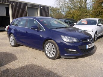 2014 VAUXHALL ASTRA 1.7 CDTI Ecoflex S/S Tech Line 5 Door Estate In Blue With Built In Sat Nav £7295.00