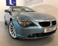 """USED 2006 56 BMW 6 SERIES 3.0 630I SPORT 2d AUTO 255 BHP WAS £7999 TODAY £6999 SAVING £1000 !!! Stunning in Atlantic blue metallic with cream leather,19""""alloys,Climate,heated seats,electric Sports seats-excellent service history -this car really needs to be viewed -totally pristine -looks like £20,000 today"""