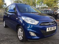 USED 2011 61 HYUNDAI I10 1.2 ACTIVE 5d 85BHP 20 ROAD TAX+FSH+2KEYS+ALLOYS+