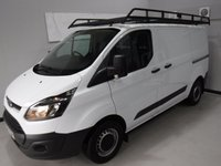 USED 2015 64 FORD TRANSIT CUSTOM 2.2 290 LR P/V 1d 124 BHP GREAT VAN  WITH ONE OWNER AND FULL DEALER HISTORY FINISHED IN BRIGHT WHITE,WITH IMMACULATE BODY WORK AND UNMARKED INTERIOR,  ELEC WINDOWS, REMOTE CENTRAL LOCKING, RADIO CD USB POINT, HIGH QUALITY ROOF RACK , FRONT AND REAR PARKING SENSORS, CARGO LINED, BULK HEAD,  JUST SERVICED READY FOR WORK.