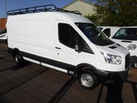 USED 2015 15 FORD TRANSIT 2.2 310 SHR P/V 1d 124 BHP GLEAMING WHITE, ONE OWNER, FULL SERVICE HISTORY, A GREAT WORK VAN, GOOD QUALITY CABNITS IN THE BACK (CAN BE LEFT OR REMOVED),  ELEC WINDOWS 1 TOUCH, REMOTE CENTRAL LOCKING, BULK HEAD, GOOD QUALITY ROOF RACK, REAR PARKING SENSORS, USB PORT, BLUETOOTH, 12V POINT, 6 SPEED MANUAL, WILL COME FULL SERVICED READY FOR WORK.