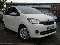 2012 SKODA CITIGO 1.0 SE 12V 5d AUTO 59 BHP £4395.00