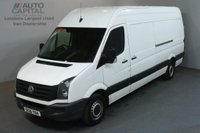 USED 2016 16 VOLKSWAGEN CRAFTER 2.0 CR35 TDI 135 BHP L3 H3 LWB H/ROOF  ULEZ COMPLIANT SPARE KEY