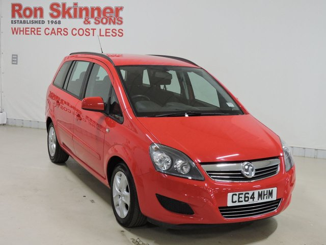 View our 2014 64 VAUXHALL ZAFIRA 1.8 EXCLUSIV 5d 120 BHP