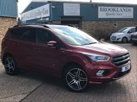 2016 FORD KUGA 1.5 ST-LINE Ruby Red 1/2 Lthr Heatd Seats PowerShift AUTO 180 BHP £22995.00