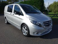 USED 2017 17 MERCEDES-BENZ VITO CREW VAN COMPACT SPORT 7G - TRONIC AUTO 2.1 CDTI 190 BHP Ultimate Specification Euro 6 Model! Direct From One Owner / Driver That Has Owned And Cherished From New!!