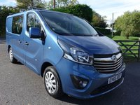 2015 VAUXHALL VIVARO 2900 L1H1 SWB  DOUBLE CAB CREW VAN SPORTIVE 1.6CDTI 120 BHP £SOLD