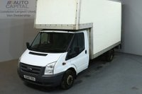 USED 2010 60 FORD TRANSIT 2.4 350 115 BHP LWB L3 LUTON WITH TAIL LIFT  REAR BOX LENGTH 13 FOOT NO VAT