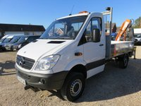 2012 MERCEDES-BENZ SPRINTER 2.1 313 CDI 4x4 MWB 129 BHP DROPSIDE WITH CRANE 24380 MILES £25950.00