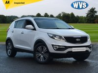 USED 2015 15 KIA SPORTAGE 1.7 CRDI 3 ISG 5d 114 BHP AA INSPECTED 1 OWNER  SPORTAGE 1.7CRDI 3 in white, still under manufacturers warranty, 3 MAIN DEALER KIA SERVICE STAMPS.