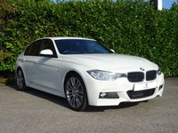 """USED 2015 65 BMW 3 SERIES 2.0 320D M SPORT 4d 181 BHP Over £4000 Worth Of Factory Extras, M Sport Plus Package, Full Dakota Black Leather Trim, Heated Front Seats, Finished In Alpine White Paintwork, Navigation Plus, 19"""" Twin Spoke Alloys, Bluetooth, Leather Steering Wheel With Controls, Privacy Glass, Cruise Control, Harmon/Kardon Sound System, Ready To Drive Away In Under 1 Hour"""