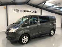 2015 FORD TRANSIT CUSTOM 2.2 290 LIMITED 6 SEATER CREW VAN 153 BHP £15995.00