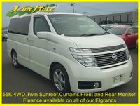 2003 NISSAN ELGRAND  Highway Star 3.5 4WD, Automatic,8 Seats,Only 55k,Sunroof,Power CurtainsTwin Sunroof £6500.00