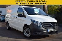 USED 2016 66 MERCEDES-BENZ VITO 1.6 111 CDI 1d 114 BHP LWB VITO 111 1.6cdi with twin side doors.
