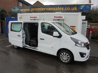 2015 VAUXHALL VIVARO  L2H1 CDTI  2.0  DIESEL SIX SPEED  LONG WHEEL BASE  TOP OF THE RANGE  SPORTIVE SIX SEATS  DOUBLE CAB  AIR CON  PARKING SENSORS  ELECTRIC PACK  BLUE TOOTH  VERY TIDY CREW VAN SOLD WITH WARRANTY  £8500.00