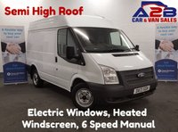 2013 FORD TRANSIT 2.2 100BHP T260 SWB Medium Roof Panel Van with 6 Speed Gearbox, Electric Windows and 3 Seats £6680.00