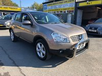 2008 NISSAN QASHQAI 2.0 TEKNA 5d AUTO 140 BHP IN BRONZE WITH ONLY 36700 MILES AND A GREAT SPEC. £6499.00