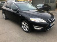 2012 FORD MONDEO 2.0 TITANIUM X TDCI 5d 161 BHP MANUAL 6 SPEED ESTATE IN BLACK WITH 101000 MILES. £5999.00
