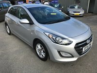 2015 HYUNDAI I30 1.6 CRDI SE BLUE DRIVE 5d 109 BHP IN SILVER WITH ONLY 33500 MILES £7999.00