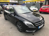 2013 MERCEDES-BENZ B CLASS 1.6 B180 BLUEEFFICIENCY SPORT 5d AUTO 122 BHP IN BLACK WITH CREAM LEATHER INTERIOR AND ONLY 30000 MILES £11999.00