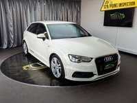 USED 2014 14 AUDI A3 2.0 SPORTBACK TDI QUATTRO S LINE 5d AUTO 182 BHP £0 DEPOSIT FINANCE AVAILABLE, AIR CONDITIONING, AUDI DRIVE SELECT, BLUETOOTH CONNECTIVITY, CLIMATE CONTROL, CRUISE CONTROL, DAB RADIO, DAYTIME RUNNING LIGHTS, ELECTRONIC PARKING BRAKE, FULL S LINE LEATHER UPHOLSTERY, GEARSHIFT PADDLES, HEATED SEATS, S TRONIC GEARBOX, STEERING WHEEL CONTROLS, TRIP COMPUTER