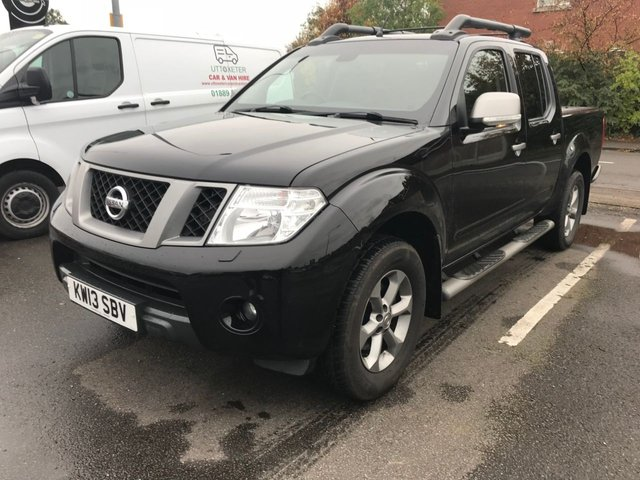 2013 13 NISSAN NAVARA 2.5 DCI PLATINUM 4x4 AUTO 5 Seat Double Cab Pickup with Sat Nav and NO VAT TO PAY