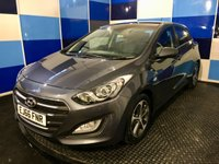 "USED 2016 66 HYUNDAI I30 1.6 SE 5d AUTO 118 BHP A stunning example of this highly sought after family automatic hatchback finished in unmarked micron grey metalic contrasted with 5 twin spoke 16"" two tone alloy wheels this car comes with all the usual refinements including bluetooth phone conectivity,air conditioning,cruise control and speed limiter.cd radio with mp3 and wma compatability,rear parking sensors,electric windows all round. led day time running lights plus so much more,and and its got Hyundai`s reliability,deffinitely one to conc"