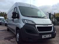 USED 2017 67 PEUGEOT BOXER LWB 2.0 BLUE HDI 335 L3H2 PROFESSIONAL 130 BHP 1 OWNER MANUFACTURER'S WARRANTY SPARE KEY AIR CONDITIONING SATELLITE NAVIGATION REAR PARKING SENSORS ELECTRIC WINDOWS AND MIRRORS BLUETOOTH CRUISE CONTROL 6 SPEED