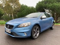 USED 2015 65 VOLVO V40 2.0 D2 R-DESIGN 5d AUTO 118 BHP R DESIGN, AUTOMATIC GEARBOX, DAB RADIO, BLUE TOOTH PHONE AND AUDIO CONNECTIVITY, FULL VOLVO SERVICE HISTORY!!!!