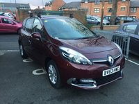 USED 2013 63 RENAULT SCENIC 1.5 DYNAMIQUE TOMTOM DCI EDC 5d AUTO 110 BHP AUTOMATIC WHICH IS CHEAP TO RUN, LOW CO2 EMISSIONS(124G/KM), LOW ROAD TAX,AND EXCELLENT FUEL ECONOMY! GOOD SPECIFICATION INCLUDING CLIMATE CONTROL, SATELLITE NAVIGATION, MEDIA, PRIVACY GLASS, LEATHER TRIM, AND ALLOY WHEELS!  ONLY 9277 MILES WITH FULL RENAULT SERVICE HISTORY!