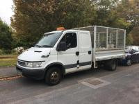 USED 2005 05 IVECO DAILY  3.0 TD 35C14 LWB Crewcab Tipper 4dr 4 dr caged with tool storage