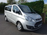 USED 2016 66 FORD TOURNEO CUSTOM 310 TITANIUM 8 SEAT MINIBUS 2.0 TDCI 130 BHP Direct From Leasing Company With Ford Warranty Till September 2019