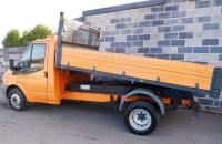USED 2009 09 FORD TRANSIT 2.4 TD 350 L Tipper 2dr (LWB) Ex Local Council Owner