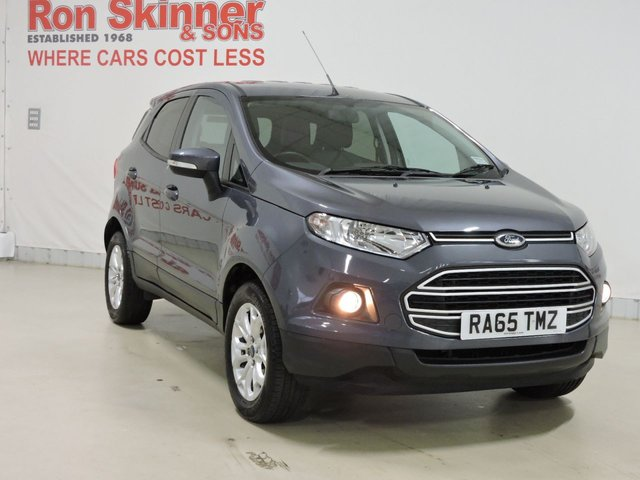 View our 2015 65 FORD ECOSPORT 1.0 ZETEC 5d 124 BHP with rear parking sensor