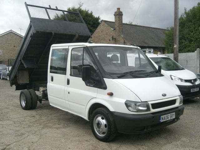 View our 2006 06 FORD TRANSIT 2.4 TDI 350 L Crewcab Tipper 4dr (LWB)