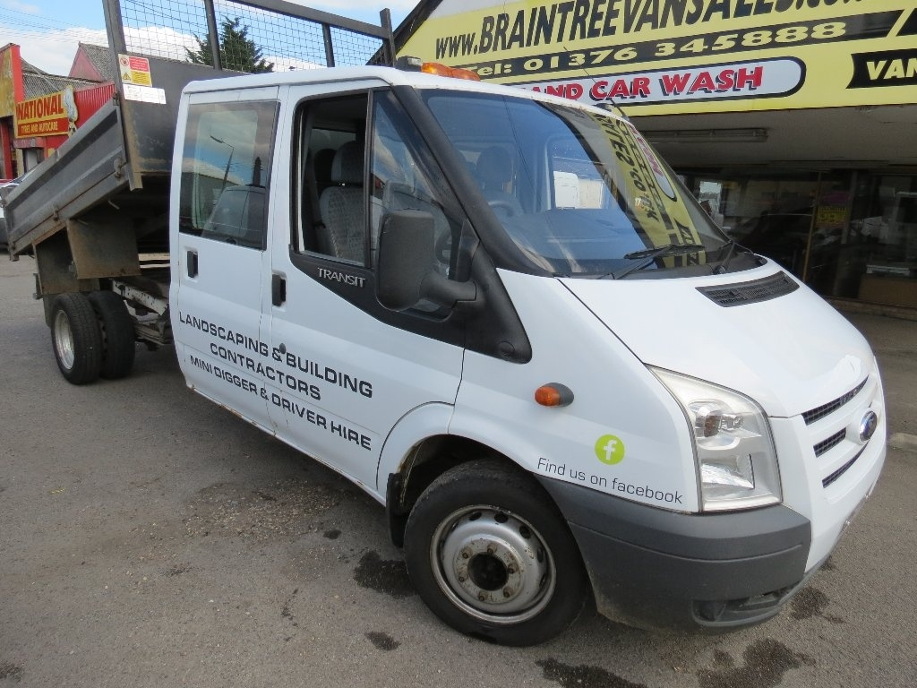 View our 2007 57 FORD TRANSIT 2.4 TDCi 350 L Crewcab Chassis 4dr (DRW, LWB)