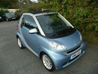 2012 SMART FORTWO CABRIO 1.0 PASSION MHD 2d AUTO 71 BHP £4995.00