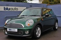 USED 2012 62 MINI HATCH COOPER 1.6 COOPER 3d 122 BHP Dual Retractable Sunroof, Climate Control, Bluetooth Phone, AUX & USB, Auto Lights & Wipers, DAB Radio